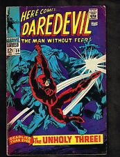 """Daredevil #39 ~""""The Exterminator and the Super-Powered Unholy 3 """" ~1968 (3.5) WH"""