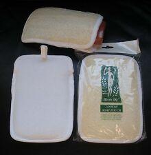 Lot 3 Natural Loofah Luffa Loofa Soap Sponge Pouch Bag