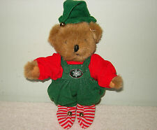"""LOT OF 6 SANTA'S #1 ELF 5 PIECE CHRISTMAS COSTUME OUTFIT FOR 8"""" TALL TEDDY BEARS"""