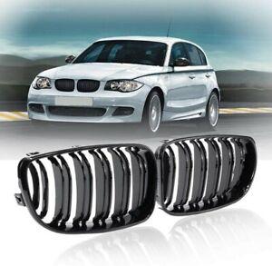 Grille Calandre Noir Brillant pour BMW SERIE 1 E81 E82 E87 E88 PH2 2007-2011