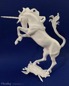 Traditional Size Unpainted Artist Resin Fantasy Horse, HERALDRY