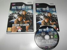 "Doctor Who Return To Earth For Nintendo Wii ""Fast And Free Postage"""
