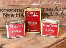 Vintage Schilling & Co. Spice Tins Lot Of 3 Ca. 1930's