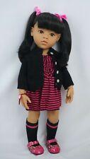 "Gotz doll Hannah 18"" black hair and brown eyes"
