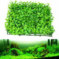 Green Plastic Water Grass Plant Lawn Fish Tank Landscape Aquarium Home NEW