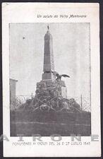 MANTOVA VOLTA MANTOVANA 04 MONUMENTO ai CADUTI - RISORGIMENTALE Cartolina