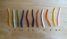 """50 pack of 3"""" floating finesse trout worms - choose color - Made in Usa"""