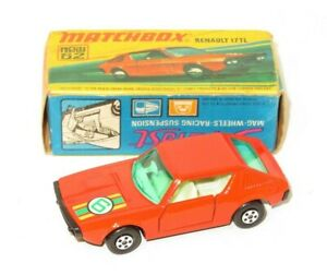 1970`s Matchbox Superfast 62  Renault 17 TL Orange     Made in England