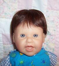 Human Hair Doll Wig ~Partial Cloth Cap~Size 10/11 (25-27 cm)~DARK BROWN  # 9118