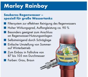 Regensammler Marley Rainboy mit Filtersystem und Überlaufstop DN 87-105mm Braun