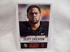 2014 Score Football #419 Scott Crichton Rookie card - Vikings