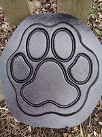 """Dog paw  plastic mold concrete plaster garden mould  9.5"""" x 9.5"""" x .75"""""""