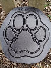 "dog paw  plastic mold concrete plaster garden mould  9.5"" x 9.5"" x .75"""
