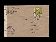 Germany Postwar 1947 Gelsenkirchen Censor 1R Mark to USA Cover 5p
