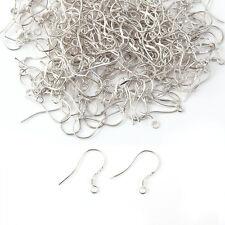 200pcs 925 Sterling Silver Earring Hooks Hook Ear Wires, Head Pins & Eye Pins