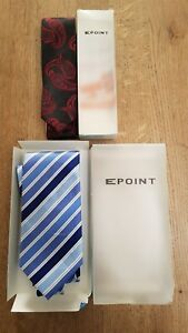 2 X MENS TIES,  1 X PAISLEY THIN AND 1 X  STRIPED WIDE TIE