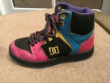 WOW DC Shoes Boys Youths Spark High RS Size 13 Black, Blue, Red, Yellow & Purple