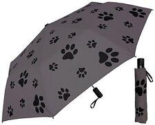 "44"" Puppy Dog Paw Print Auto Mini Umbrella -RainStoppers Rain/Sun UV Fashion"