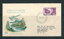NORFOLK ISLAND 1960 LOCAL GOVERNMENT on FDC to CALIFORNIA USA