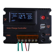 20A LCD Solar Panel Battery Regulator Charge Controller 12V 24V Auto Switch A
