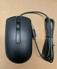 New Dell Optical Black Usb Scroll Wheel Mouse