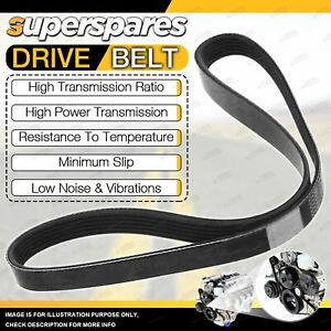 Superspares Drive Belt for Audi A4 B8 A6 C6 A5 8T Q5 8R 2.7L 3.0L V6 DOHC 24V