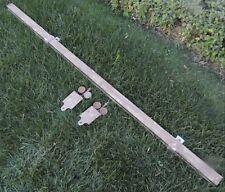 Antique Barn Door Rollers with Hardware Track & Hangers