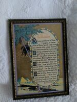 """Vtg 1920s Art Deco Egyptian """"The Builders"""" Motto Pyramids by Longfellow"""