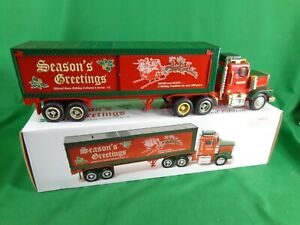 1998 Sears Christmas Truck Tractor Trailer 18-Wheeler Coin Bank in Box