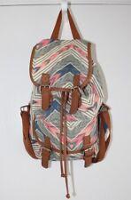 Charlotte Russe Drawstring Backpack Tribal Print School Casual Grey Brown Pink