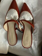Zara Women's Shoes Red Pointed Ballet Flats Sz 71/2
