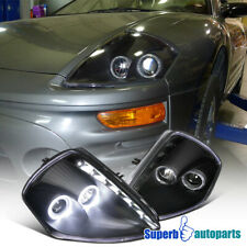 For 2000-2005 Mitsubishi Eclipse SMD LED Dual Halo Projector Headlights Black