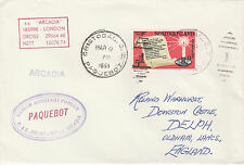Norfolk Island 4525 - Used in CRISTOBAL, CANAL ZONE  1968 PAQUEBOT cover to UK