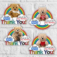 Rainbow Of Hope Thank you Heart Sticker Vinyl Window Sticker NHS Key Workers