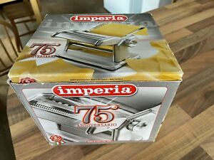 Imperia Fresh Pasta Maker Machine 75th Anniversary Model Made In Italy New Boxed