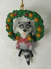 Disney Meeko Pocahontas Raccoon Wreath Christmas Holiday Ornament 1995 Grolier