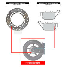 BREMBO REAR DISC (+ BRAKE PADS) - HONDA XRV AFRICA TWIN 750 (90-02) - 68B407A5