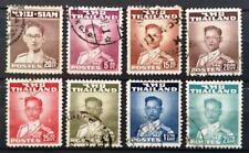 THAILAND - 1947, 1951 - King Bhumibol Adulyadej - Lot of 8 USED stamps