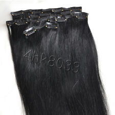 "80G Hair Extensions Full Head Clip in 100% Remy Human Hair 20"" 7pcs 15 Colors"
