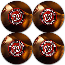 Washington Nationals Baseball Rubber Round Coaster set (4 pack) / RNDRBRCSTR2029