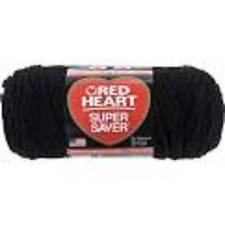 Red Heart Super Saver Economy Yarn, Black