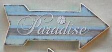 Wall Plaque Paradise Arrow Wood Sign 30671P