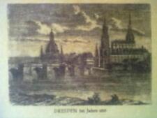 Vliesdruck DRESDEN im Jahre 1813 16,5 x 12,5 cm ungerahmt