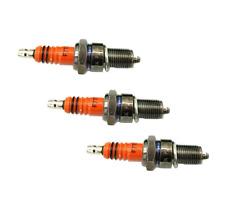 3pcs Spark Plug F7TC for Coleman 196cc CT200U Trail & CT200U-EX mini Bikes