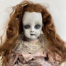 Vintage Creepy Doll Rachel The Zombie Ghost Girl Horror Decor Haunted House Prop