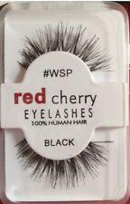 Red Cherry Eyelashes 100% Human Hair Quality False Lashes Wispy Long Thick
