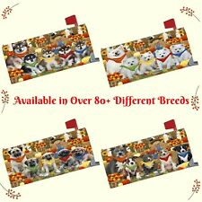 Fall Autumn Festival Gathering Mailbox Cover, Dogs, Cats, Pet Photo