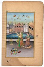 Hand Painted Rajasthani Jaipur Miniature Art & Painting Queen Is Flying Kite