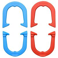 Imperial Highly Durable Pro Pitching Horseshoes- 2 Pair, Red/Blue, Made in USA