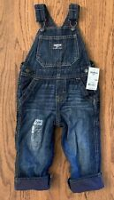 Oshkosh B'Gosh Boys Dark Denim Fleece Lined Overalls Size...